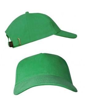 Ярко-зеленая бейсболка с металлической застежкой