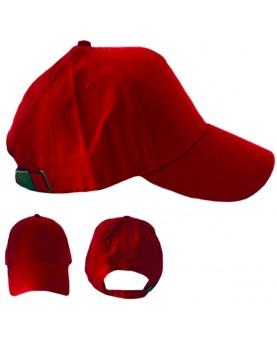 Красная бейсболка с металлической застежкой