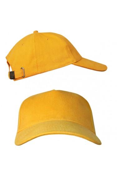 Желтая бейсболка с металлической застежкой