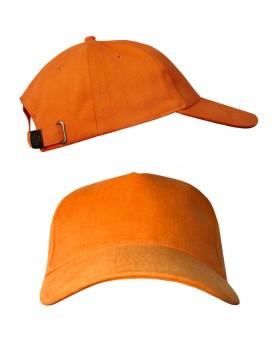 Оранжевая бейсболка с металлической застежкой